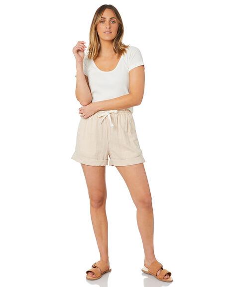 STRIPE WOMENS CLOTHING THE HIDDEN WAY SHORTS - H8211231STRIP