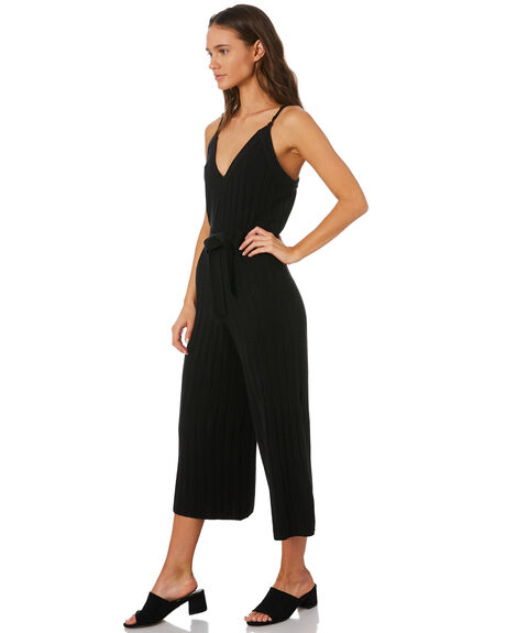 BLACK WOMENS CLOTHING MLM LABEL PLAYSUITS + OVERALLS - MLM460B-BLK