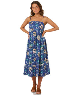 BLUE WOMENS CLOTHING RIP CURL DRESSES - GDRGQ10070