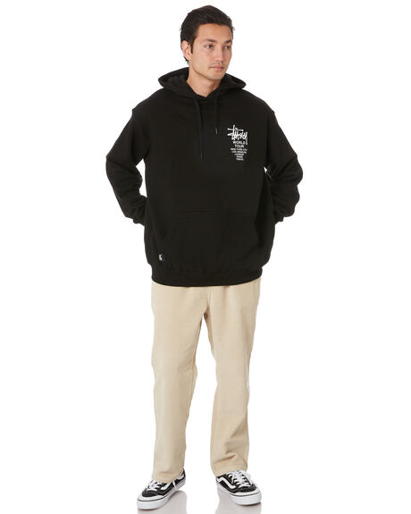 BLACK MENS CLOTHING STUSSY JUMPERS - ST007200BLK