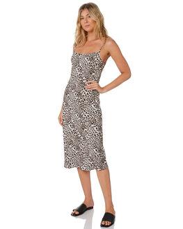 GROWL LEOPARD WOMENS CLOTHING THE HIDDEN WAY DRESSES - H8203446GRWLP