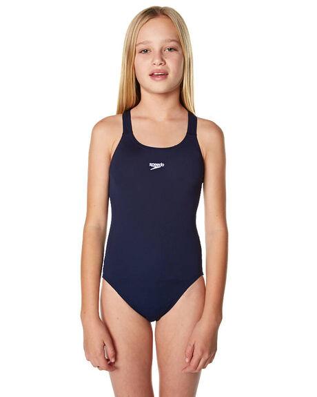 Speedo Kids Girls Endurance Medalist Swimwear Navy Surfstitch