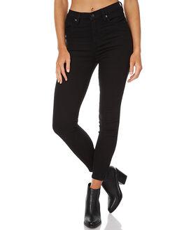 BLACK WOMENS CLOTHING ZIGGY JEANS - ZW-1349BLACK