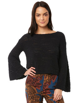 CHARCOAL WOMENS CLOTHING TIGERLILY KNITS + CARDIGANS - T371130CHAR