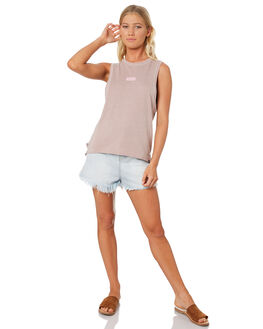 PARTICLE ROSE WOMENS CLOTHING HURLEY SINGLETS - AQ3200-684