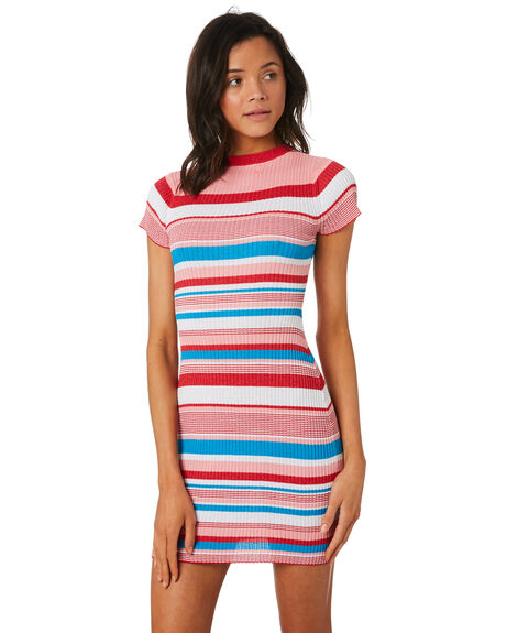 MULTI WOMENS CLOTHING LULU AND ROSE DRESSES - LU23708MULTI