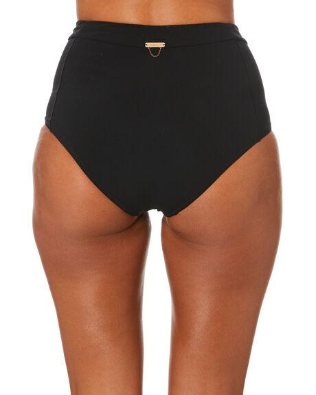 BLACK WOMENS SWIMWEAR TIGERLILY BIKINI BOTTOMS - T334611BLK