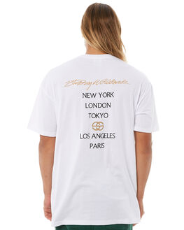 WHITE MENS CLOTHING STUSSY TEES - ST081003WHT