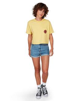 LEMON DROP WOMENS CLOTHING RVCA TEES - RV-R292688-LDR