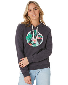 OIL GREY HEATHER WOMENS CLOTHING HURLEY JUMPERS - CN8550097