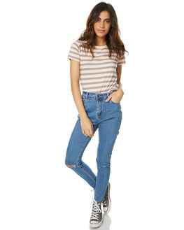 VINTAGE BUSTED KNEE WOMENS CLOTHING THE HIDDEN WAY JEANS - H8172197VBK