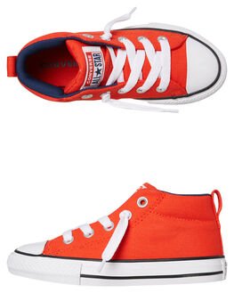 HABANERO RED KIDS BOYS CONVERSE SNEAKERS - 665133CHRED