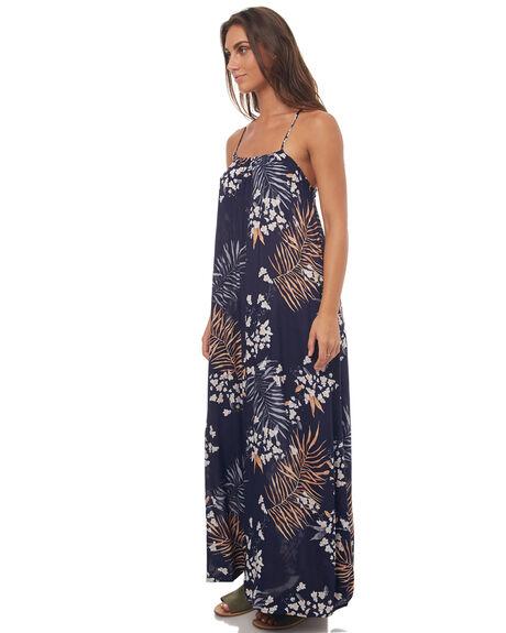 NAVY BLUE WOMENS CLOTHING RUSTY DRESSES - SCL0268NVB