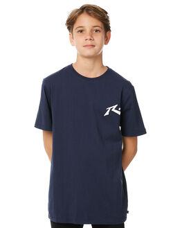 NAVY BLUE KIDS BOYS RUSTY TEES - TTB0547NVB
