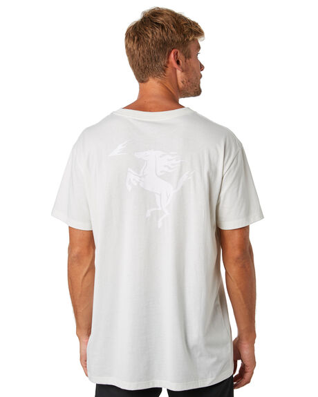 ANITQUE WHITE MENS CLOTHING RVCA TEES - R193067ANWHT