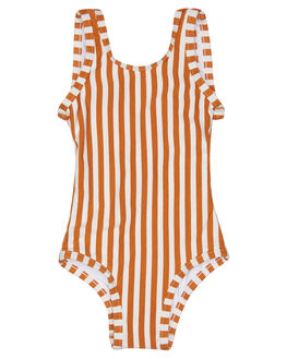 RUST STRIPE KIDS TODDLER GIRLS ZULU AND ZEPHYR SWIMWEAR - ZM1645RRUSS