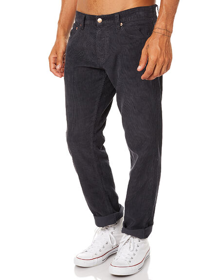 BLACK CORD MENS CLOTHING AFENDS JEANS - 12-02-030BKCOR
