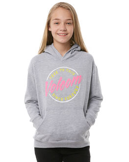 HEATHER GREY KIDS GIRLS VOLCOM JUMPERS - B31118Y0HGR