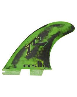 GREEN BLACK BOARDSPORTS SURF FCS FINS - FRPM-PC01-MD-FS-RGNB