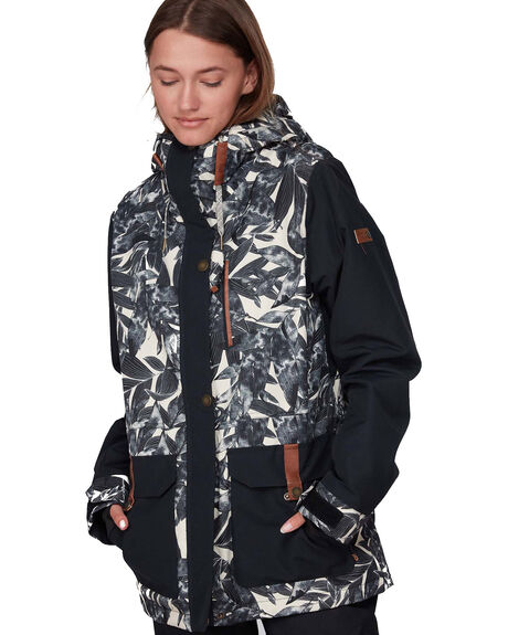 OYSTER GRAY PALM BOARDSPORTS SNOW ROXY WOMENS - ERJTJ03236-TFN1