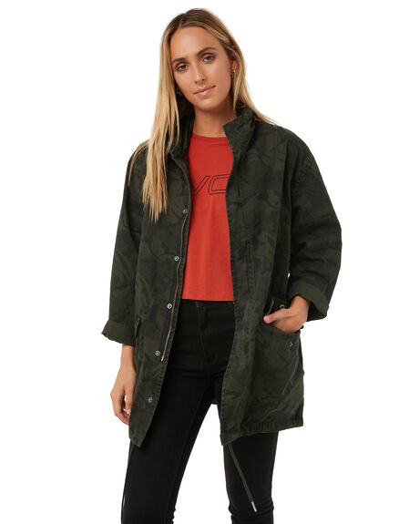CAMO WOMENS CLOTHING RVCA JACKETS - R273435CAMO