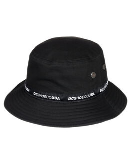 BLACK MENS ACCESSORIES DC SHOES HEADWEAR - ADYHA03900-KVJ0