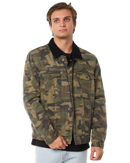 BLACK CAMO MENS CLOTHING BARNEY COOLS JACKETS - 507-CR1BLKCM
