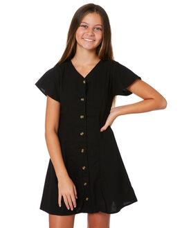 WASHED BLACK KIDS GIRLS EVES SISTER DRESSES + PLAYSUITS - 9541010WBLK