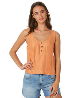 PEACH WOMENS CLOTHING RIP CURL FASHION TOPS - GSHNH90165