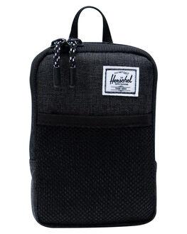 BLACK XHATCH MENS ACCESSORIES HERSCHEL SUPPLY CO BAGS + BACKPACKS - 10566-02090-OSBLKX
