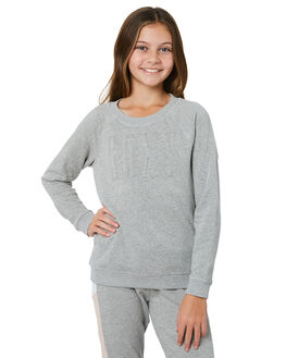 HERITAGE HEATHER KIDS GIRLS ROXY JUMPERS + JACKETS - ERGFT03283SGRH