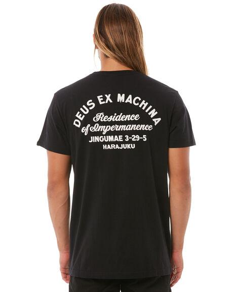 BLACK WHITE MENS CLOTHING DEUS EX MACHINA TEES - DMS41065RBLK