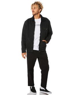 FADED BLACK MENS CLOTHING THRILLS JACKETS - TDP-232FBFDBLK