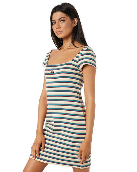 MULTI COLOURED WOMENS CLOTHING STUSSY DRESSES - ST195508STRIPE
