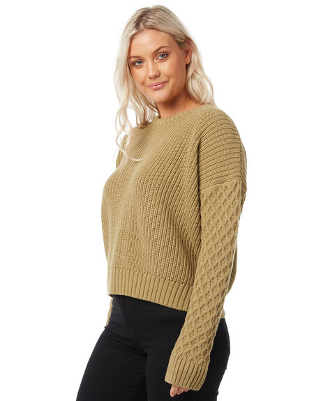 OLIVE WOMENS CLOTHING THE HIDDEN WAY KNITS + CARDIGANS - H8183147OLIVE