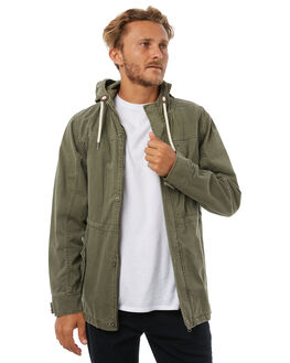 OLIVE MENS CLOTHING RIP CURL JACKETS - CJKDB10058