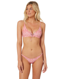 LEOPARD RED WOMENS SWIMWEAR THE PEOPLE VS BIKINI BOTTOMS - LARABOTT-LRLEO