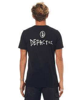 BLACK MENS CLOTHING DEPACTUS TEES - D5171000BLACK