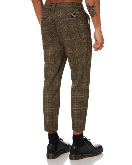 BROWN MENS CLOTHING THRILLS PANTS - TW21-404CBRN