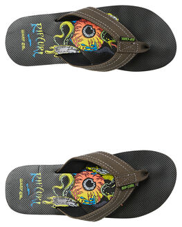GREY KIDS BOYS RIP CURL THONGS - TKTAG21697