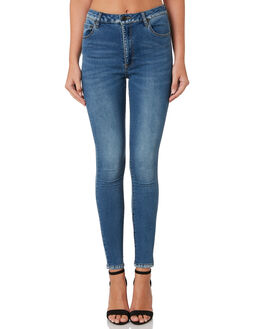MID BLUE WOMENS CLOTHING THE HIDDEN WAY JEANS - H8184199MIDBL