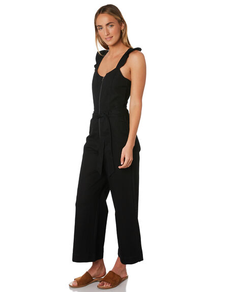BLACK WOMENS CLOTHING BILLABONG PLAYSUITS + OVERALLS - 6595507BLK