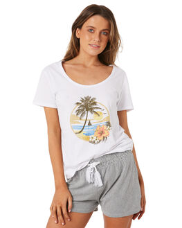 WHITE OUTLET WOMENS SWELL TEES - S8184001WHITE