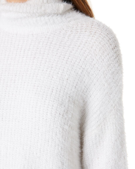 WHITE WOMENS CLOTHING ALL ABOUT EVE KNITS + CARDIGANS - 6454004WHT