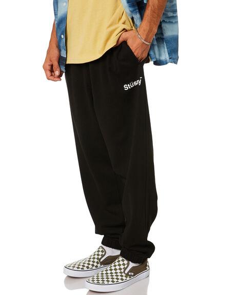 BLACK MENS CLOTHING STUSSY PANTS - ST015605BLACK