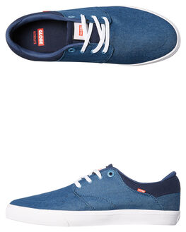 BLUE TWILL MENS FOOTWEAR GLOBE SKATE SHOES - GBCHASE-12102
