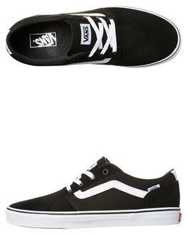 BLACK WHITE MENS FOOTWEAR VANS SNEAKERS - VN-08CBC4RBLK