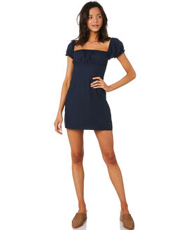 NAVY WOMENS CLOTHING LULU AND ROSE DRESSES - LU23704NAVY