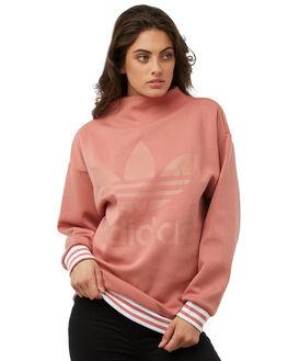 ASH PINK WOMENS CLOTHING ADIDAS ORIGINALS JUMPERS - CD6920PNK