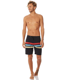 DIRTY BLACK MENS CLOTHING BANKS BOARDSHORTS - BS0135DBL